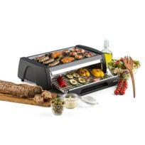 KLARSTEIN - Doppeldecker Four Grill Barbecue 2-en-1 revêtement antiadhésif - inox