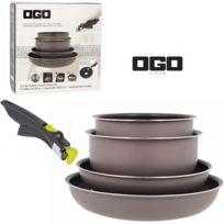 Ogo - Batterie de cuisine 5 pièces EasyClip