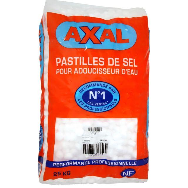 Axal - Pastilles de sel pour adoucisseur d'eau – 25 kg ...