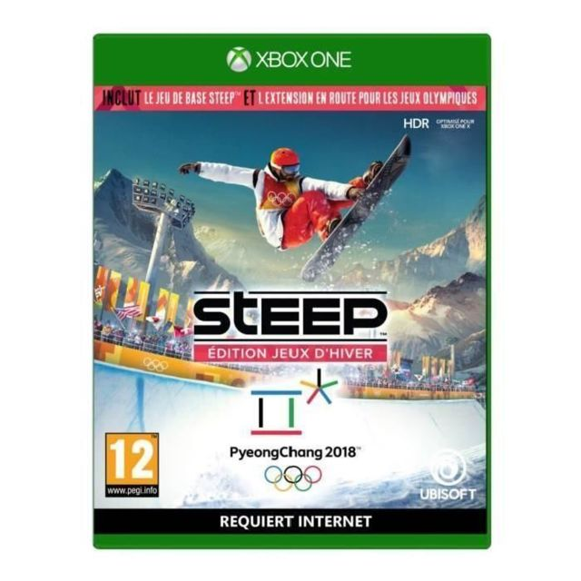steep edition jeux d hiver xbox one achat jeux xbox one simulation. Black Bedroom Furniture Sets. Home Design Ideas