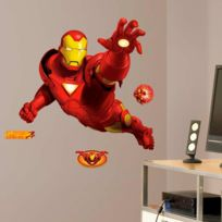 Roommates - Stickers Géant Action Iron Man Avengers Marvel