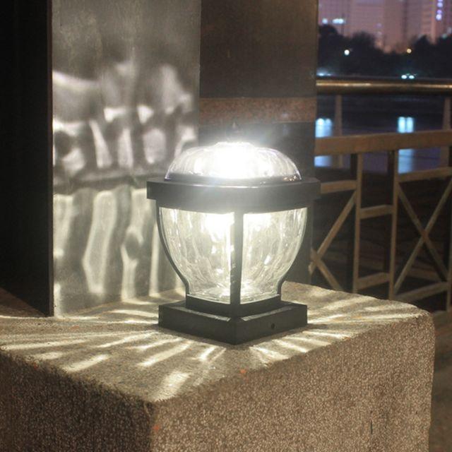 GÉNÉRIQUE Jardin solaire lumière décorative Led colonne lumière vent extérieur lampe de lumière