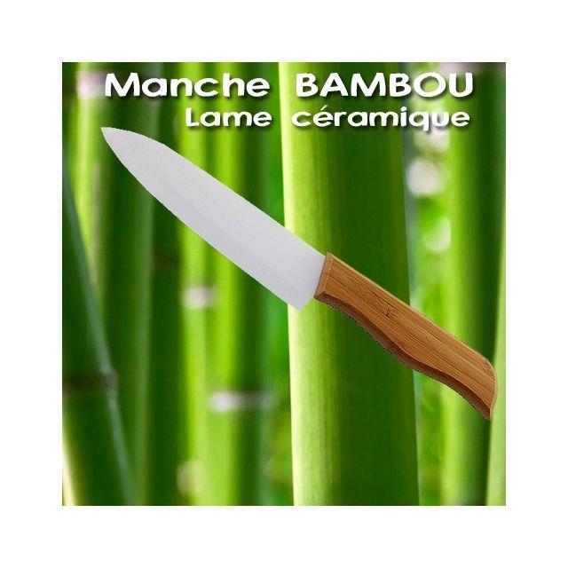 Ego Design Couteau ceramique bambou 15cm qualite pro