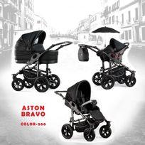 Autre - Poussette trio Aston Bravo noir châssis noir roue harley chrome