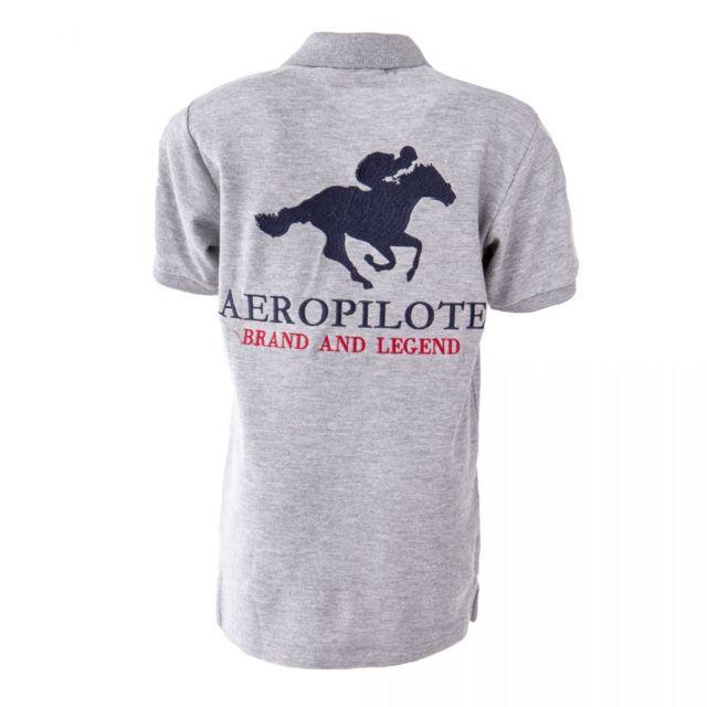ac69f0c58388b Aeropilote - Polo à slogan enfant - pas cher Achat / Vente Polo ...