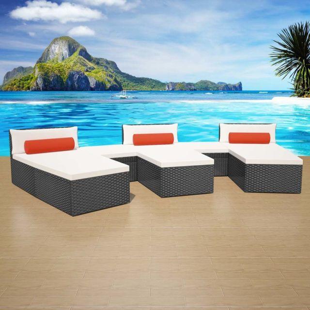 sans marque jeu de canap modulaire de jardin 22 pcs. Black Bedroom Furniture Sets. Home Design Ideas