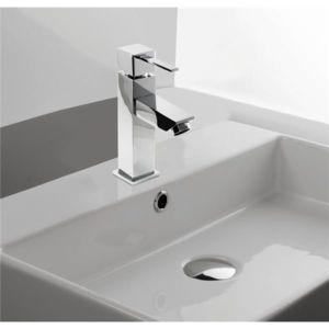 robinet lave mains design carr pour lavabo avec tete c ramique pas cher achat vente robinet. Black Bedroom Furniture Sets. Home Design Ideas
