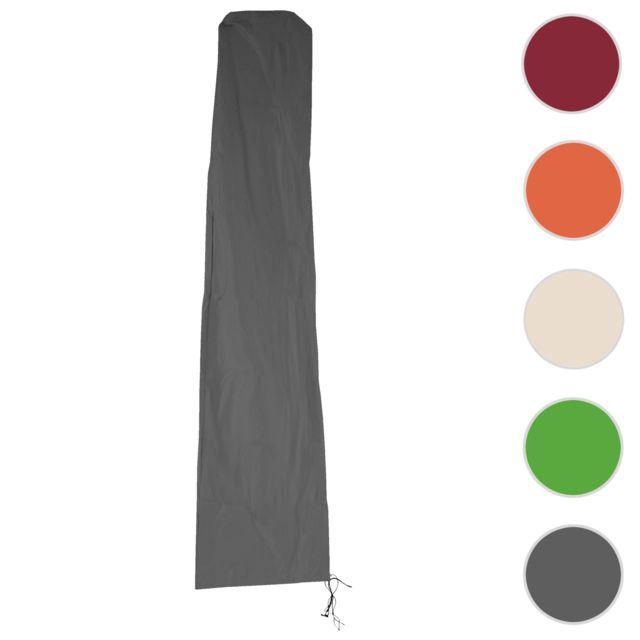 mendler housse de protection hwc pour parasol d port 4m fermeture clair anthracite pas. Black Bedroom Furniture Sets. Home Design Ideas
