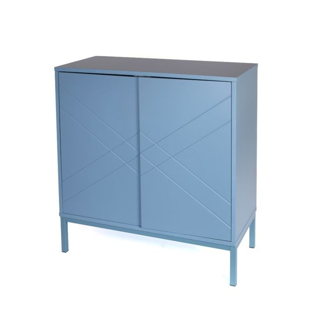 The Concept Factory Commode bleue 2 portes