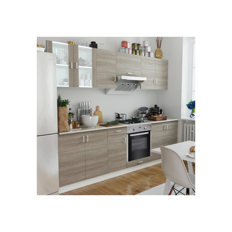 Rocambolesk - Superbe Cuisine complète avec Four intégré 8 fonctions Aspect chêne Neuf