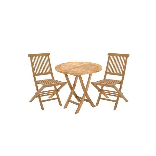 Table ronde teck : les produits du moment | Arictic.com
