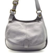 2b82e4742f3 Oh My Bag - Sac à main besace cuir lisse style cartouchière