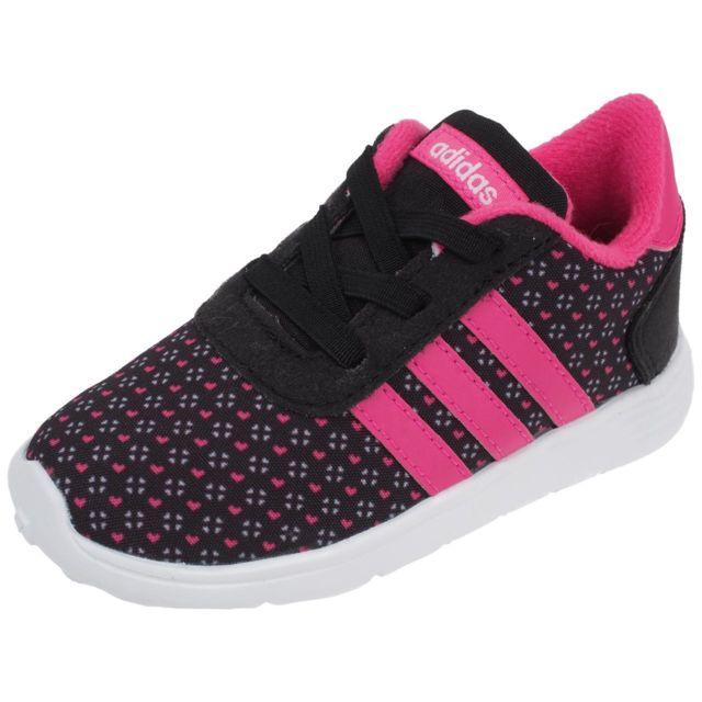 Adidas neo - Chaussures running mode Lite racer fille nr rose Noir 33091 -  pas cher Achat   Vente Baskets enfant - RueDuCommerce 2403ccc9ee