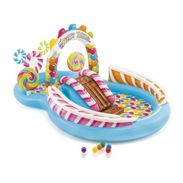 84bda992584 INTEX - Aire de jeux Royaume des Bonbons - pas cher Achat   Vente Piscines  gonflables - RueDuCommerce