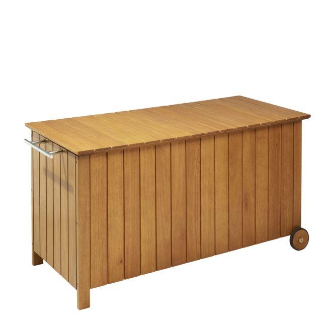 hyba coffre melo bois marron pas cher achat vente coffre de jardin rueducommerce. Black Bedroom Furniture Sets. Home Design Ideas