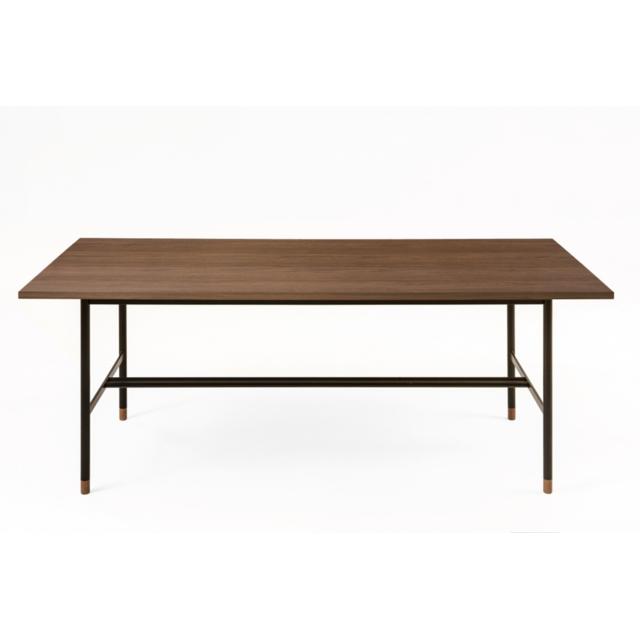 HELLIN Table rectangulaire en bois et métal noir JERSEY
