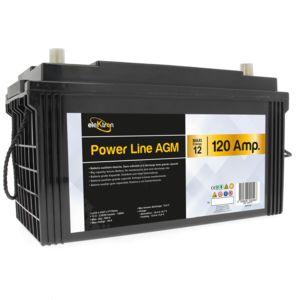 elektron batterie auxiliaire power line agm 120 amp res pas cher achat vente confort. Black Bedroom Furniture Sets. Home Design Ideas