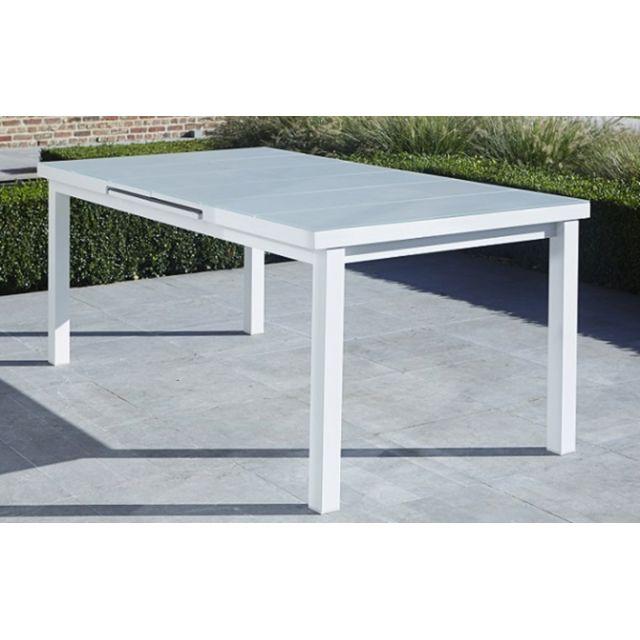 Wilsa - Table Aluminium Blanche Whitestar Rectangulaire 6 A ...