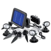Sunny - Lot de 3 lampes spot projecteur solaire 3 leds