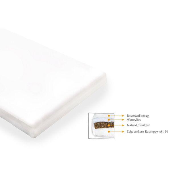 Comforium Matelas pour lit bébé 140x70 cm en mousse coloris blanc