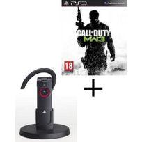 Playstation 3 - Oreillette Bluetooth Pour Ps3 + Call Of Duty Modern Warfare 3