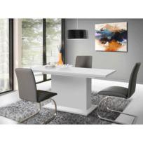 Finlandek - Salle A Manger - Finlandek Table a manger extensible Kova 160-200x77cm blanc mat