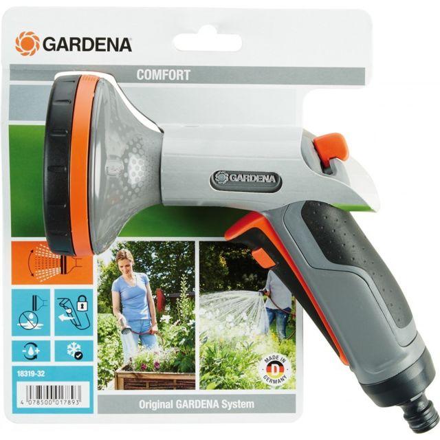gris//orange Gardena 18319-32 de douche Comfort pour parterres