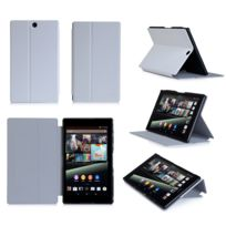 Xeptio - Housse Cuir Style luxe Ultra Slim tablette Sony Xperia Z3 Tablet Compact Sgp611 / Sgp621 blanc - Etui coque