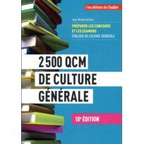 L'ETUDIANT - 2500 Qcm de culture générale 10e édition