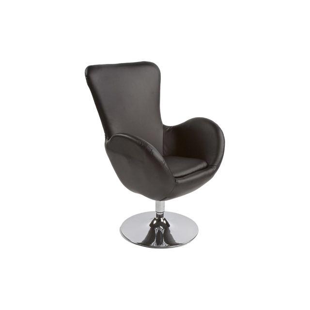 Fauteuil design 71x72x100cm Princes - noir