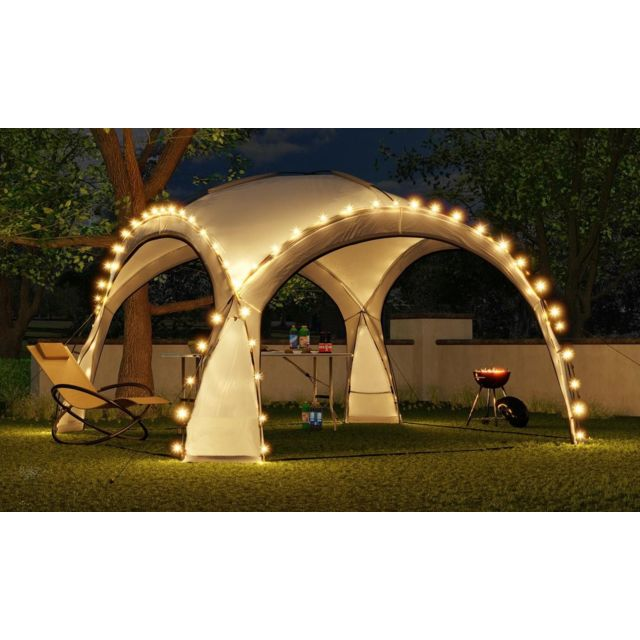 Bcelec Bc-elec - Hopw-led35G Tonnelle de jardin 3.5x3.5m avec éclairage Led et capteur solaire. Tente de fête, Pavillon de Jard