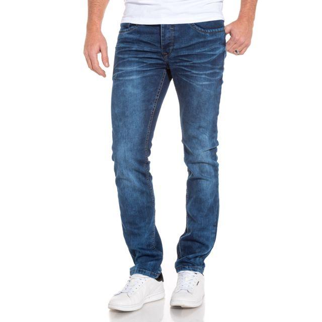BLZ Jeans - Jean homme coupe droite délavé froissé - pas cher Achat ... 1ecb24b27db5