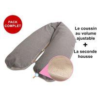 Modulit - Pack Complet: 'Bambou Choco' déhoussable au volume ajustable + la seconde housse