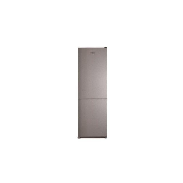 HAIER CFE635CSE - Refrigerateur Combine - 317L 222L + 95L - No-Frost - A+ - L60cm xH185cm - Silver