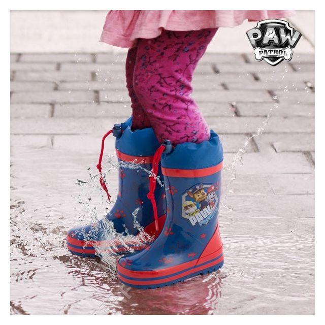 le dernier 733f2 ffe06 Bottes de Pluie Bleues en caoutchouc La Pat' Patrouille - Bottes pour  enfant garçon et fille Taille des chaussures - 31