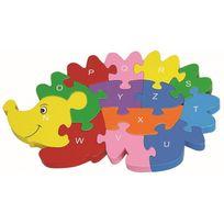 Autre - Puzzle en bois hérisson pour enfant - 12 pièces alphabet