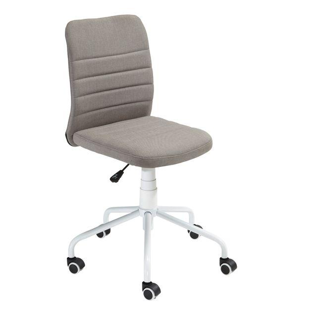 RUE DU COMMERCE Chaise de bureau - Gris - HERTHA POWDER COA Indispensable pour travailler confortablement.
