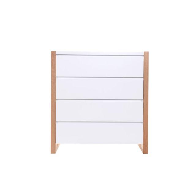 Miliboo Commode design 4 tiroirs blanc mat Armel