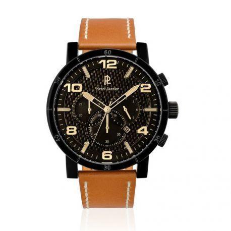vif et grand en style gamme de couleurs exceptionnelle meilleure sélection de 2019 Montre Homme Chronographe Noire et Marron - 237D439 - cadeau idéal