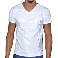Doger Wear - T Shirt Manches Courtes - Homme - Sd 17 Zip - Blanc