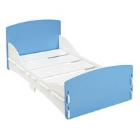 Kidsaw - Lit enfant en bois bleu et blanc simple 70 x 140 cm