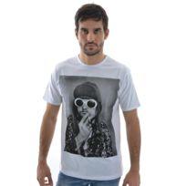 Spital fields london - Tee shirt kurt smoke coton blanc L