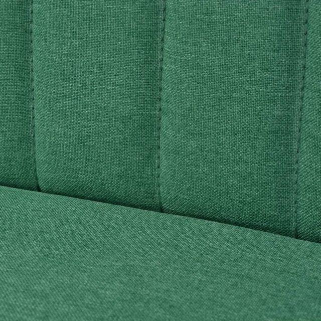 ICAVERNE Canapés edition Canapé 117 x 55,5 x 77 cm Tissu Vert