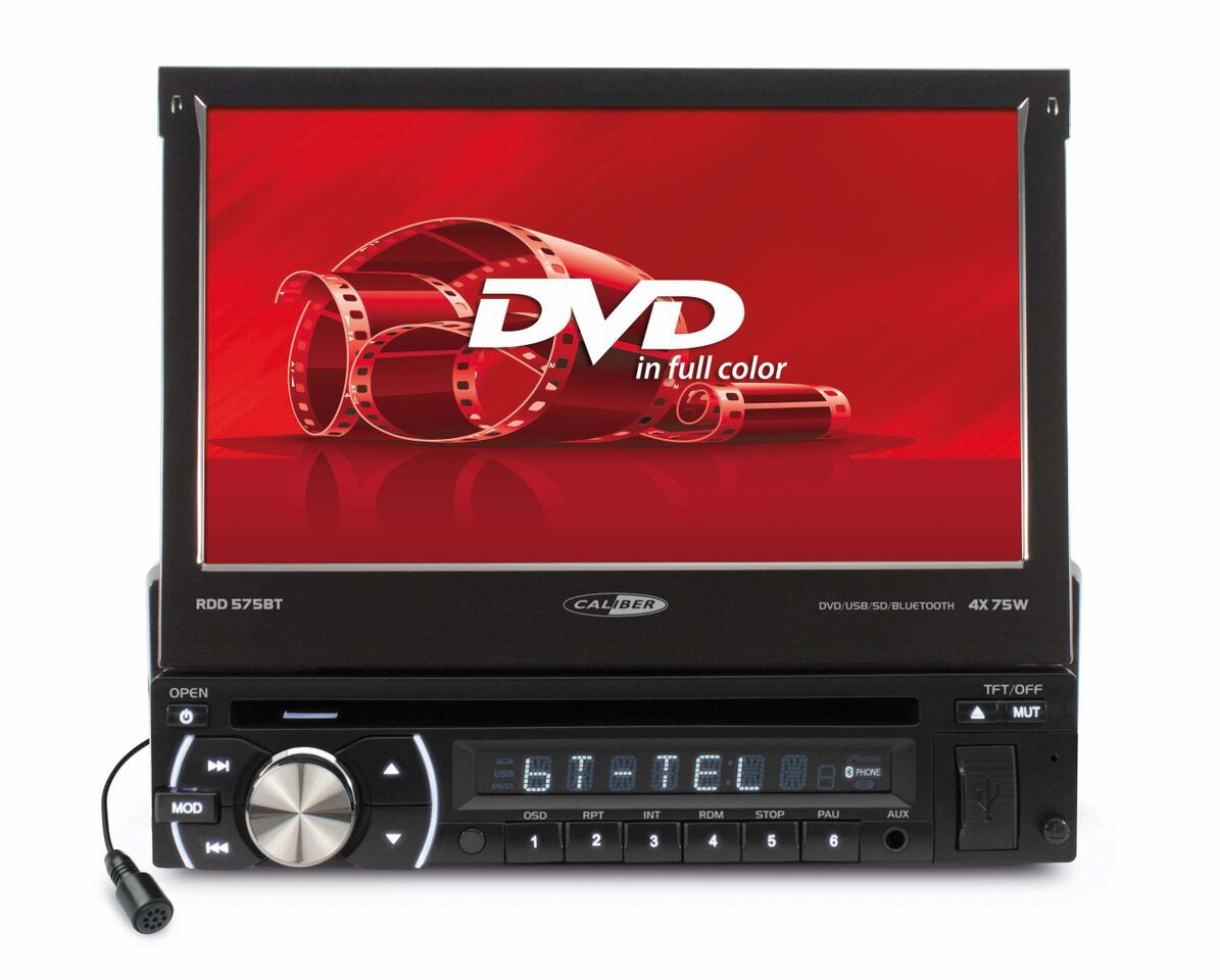 caliber autoradio rdd575bt bluetooth dvd cran motoris 7 achat vente autoradio 2 pas. Black Bedroom Furniture Sets. Home Design Ideas