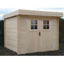 Habitat et Jardin - Abri de jardin - 6,43 m² -2.40 x 2.68 x 1,90 m - 19 mm
