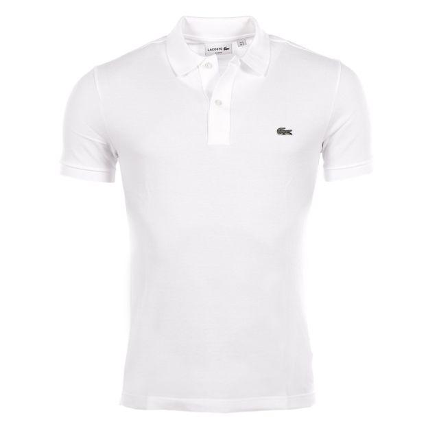 Lacoste - homme - Polo manches courtes Ph4012 Blanc - pas cher Achat    Vente Polo homme - RueDuCommerce 5b691543d5b7