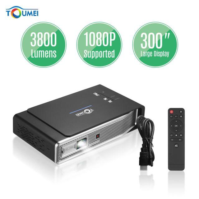 Generic Toumei Mini projecteur vidéo portable Dlp 3D Hd 1080P avec Android 4.4.4OS Projecteur de cinéma maison WiFi double bande