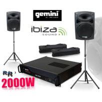 Gemini - Pack Sono Enceintes Slk-12, 2x600W, Ampli