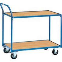 Autre - Chariots de transport légers, Capacité : 250 kg, Dimensions 980 x 509 x 1030 mm, Plateau 850 x 500 mm, Ø de roue : 125 mm, Poids : 29 kg