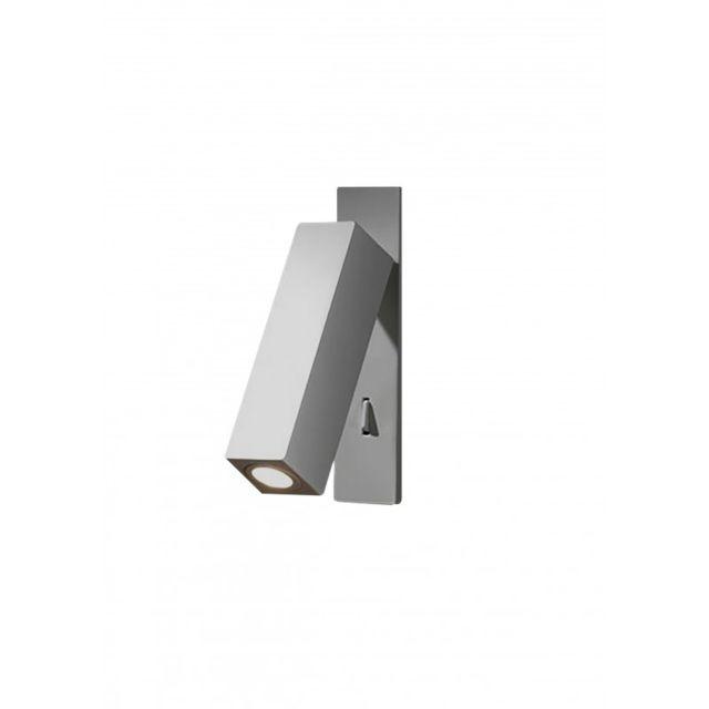 Leds C4 Applique Hall, aluminium, nickel
